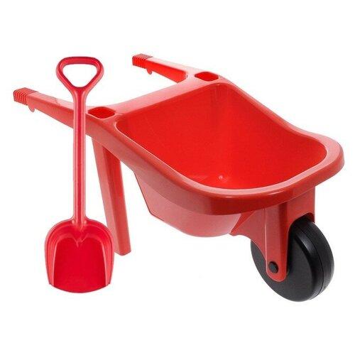 Купить Игровой набор: тачка большая (15-10278) + лопатка 50 см. (16-5391), ZEBRATOYS, Наборы в песочницу