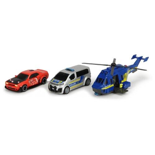 Набор техники Dickie Toys 3715011 красный/серебристый/синий недорого