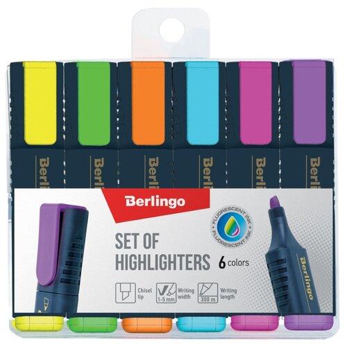 Купить Berlingo Набор текстовыделителей Textline HL500, 6 шт. (T7030), Маркеры