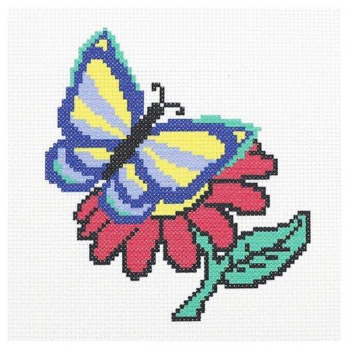 Hobby & Pro Набор для вышивания Бабочка и цветочек 22 х 22 см (ПК-170)