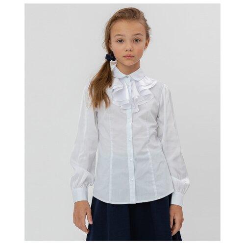 Блузка Button Blue размер 170, белый платье oodji ultra цвет красный белый 14001071 13 46148 4512s размер xs 42 170