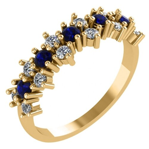 POKROVSKY Женское золотое кольцо со вставками из фианитов 1100773-00280, размер 18