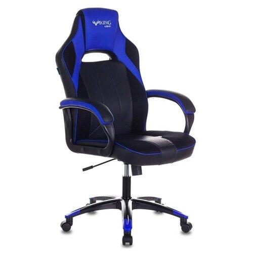 Компьютерное кресло Бюрократ VIKING-2 AERO игровое, обивка: текстиль/искусственная кожа, цвет: черный/синий цена 2017