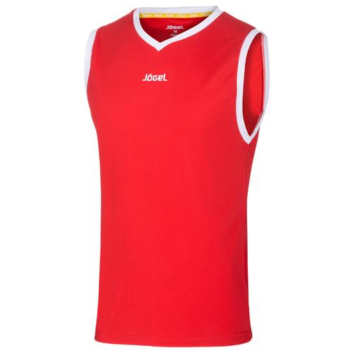 Купить Майка Jogel JBT-1020 размер YS, красный/белый, Футболки и топы