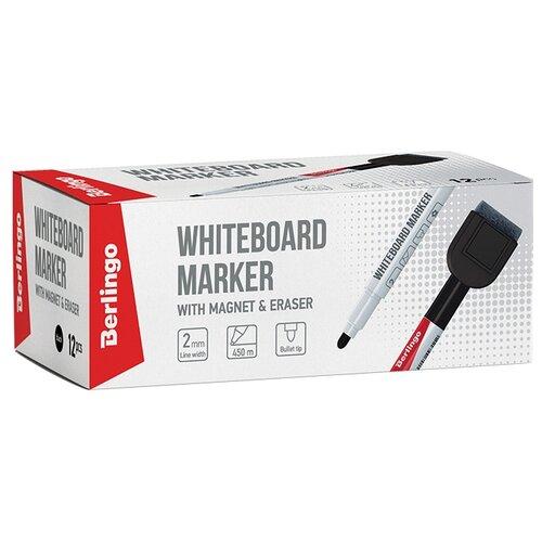 Фото - Berlingo Набор черных маркеров для для белой доски Uniline WB220 (PM7214), 12 шт. berlingo набор маркеров для досок 4 шт bmc_40509