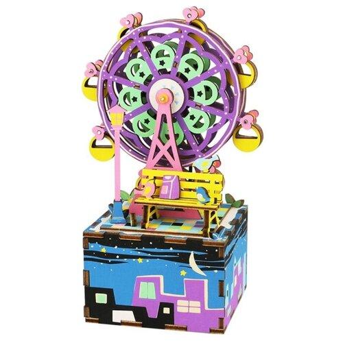 Купить Сборная модель Robotime Музыкальная шкатулка Колесо обозрения (AM402), Сборные модели
