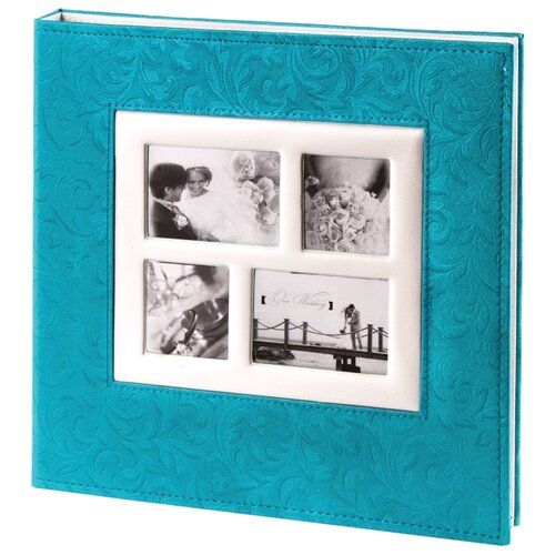 цена на Фотоальбом BRAUBERG Свадебный под фактурную кожу (391128/391129/390691), 240 фото, синий