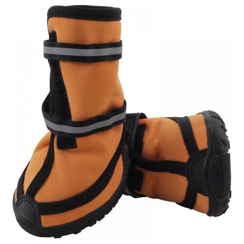 Ботинки для собак Triol 12241091/097 M оранжевый / черный