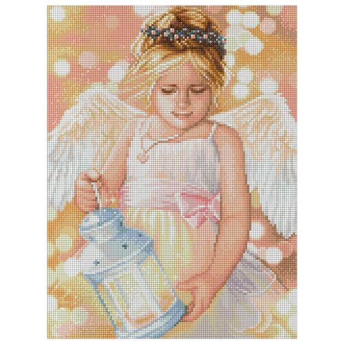 Алмазная живопись Набор алмазной вышивки Ангел с фонариком (АЖ-1780) 30х40 см алмазная живопись набор алмазной вышивки пылкие маки аж 1510 30х40 см