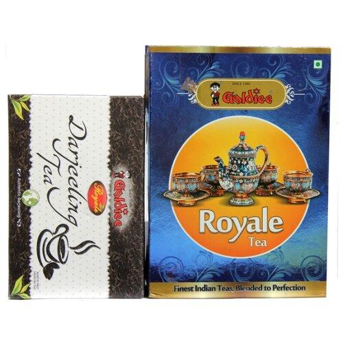 Чай черный Goldiee Дарджилинг Darjeeling Tea и Гранулированный Royale Tea, набор