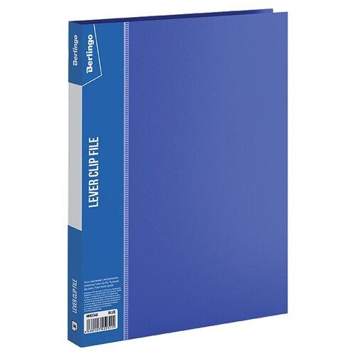 Купить Berlingo Папка с зажимом Standard A4, пластик синий, Файлы и папки