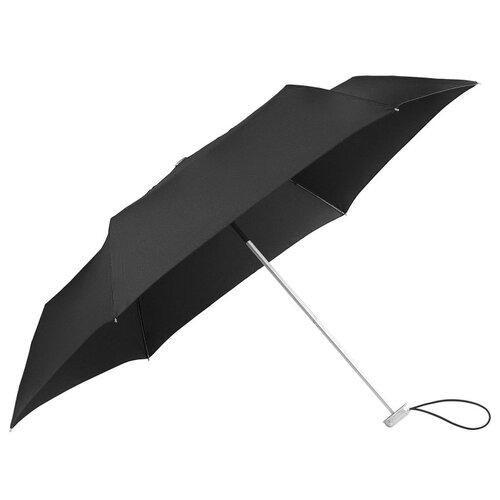 Зонт механика Samsonite Alu Drop S (6 спиц, маленькая ручка) черныйЗонты<br>
