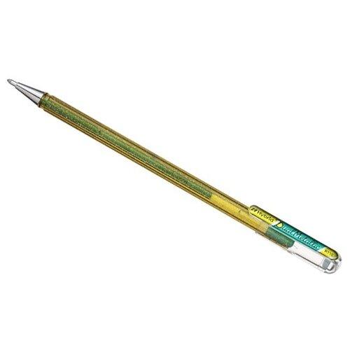 Pentel гелевая ручка Hybrid Dual Metallic, 1.0 мм, зеленый цвет чернил