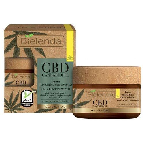 Купить Bielenda CBD Cannabidiol Cream Увлажняющий и детоксифицирующий крем для смешанной и жирной кожи лица, 50 мл