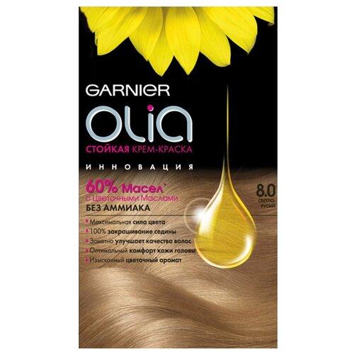 Olia cтойкая крем-краска для волос, 160 мл, 8.0, Светло-русыйКраска<br>