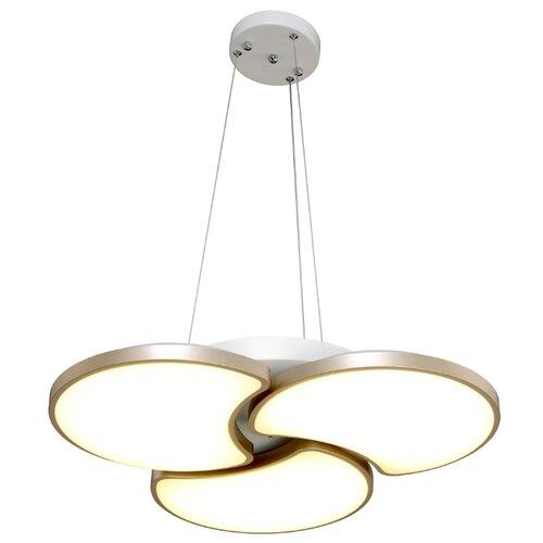 Люстра светодиодная Максисвет Панель 2-7310-3-WH+GL Y LED, LED, 36 Вт