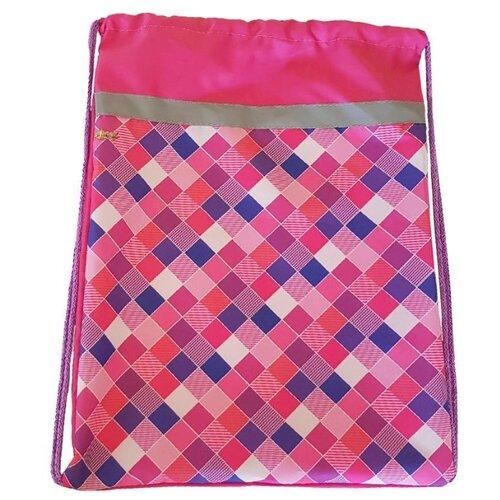 №1 School Мешок для обуви Клетка (1017935/1017934) розовый 1 school мешок для обуви клетка розовая 1017935 розовый