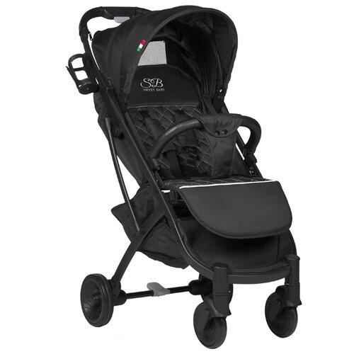 Прогулочная коляска SWEET BABY Compatto black прогулочная коляска sweet baby suburban compatto black