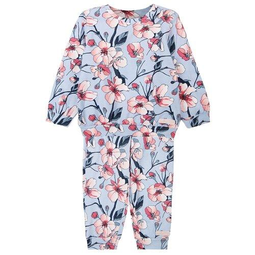 Купить Комплект одежды playToday размер 74, голубой/светло-розовый, Комплекты