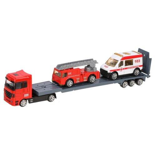 Купить Набор машин Пламенный мотор 870391 красный/белый, Машинки и техника