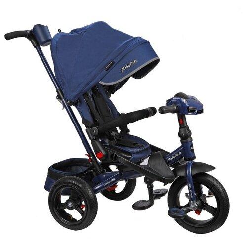 Купить Трехколесный велосипед Moby Kids New Leader 360° 12x10 AIR Car темно-синий, Трехколесные велосипеды