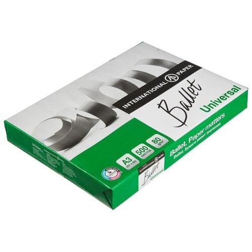 Бумага Ballet A3 Universal 80 г/м² 500 лист. белый 1 шт.