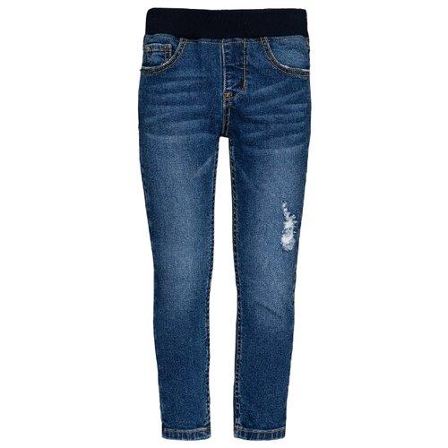 Джинсы Gulliver размер 104, синий джинсы gulliver размер 134 синий