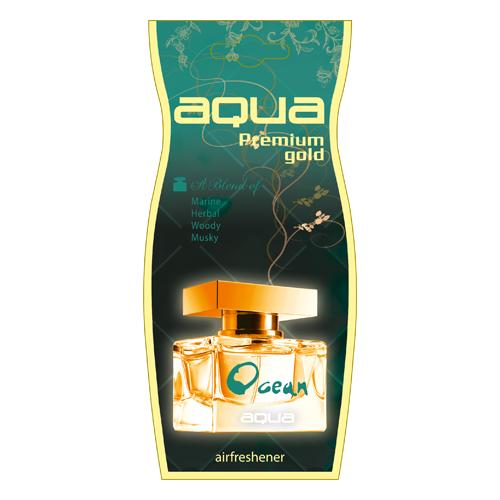 цена на Aqua Ароматизатор для автомобиля Premium Gold Drop Ocean 12 г