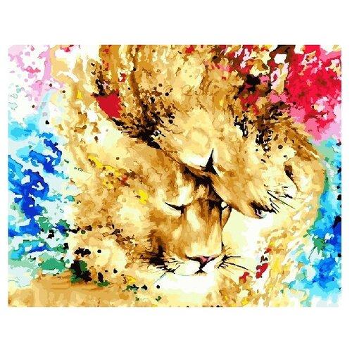 Купить ВанГогВоМне Картина по номерам Львы в красках , 40х50 см (ZX 22207), Картины по номерам и контурам