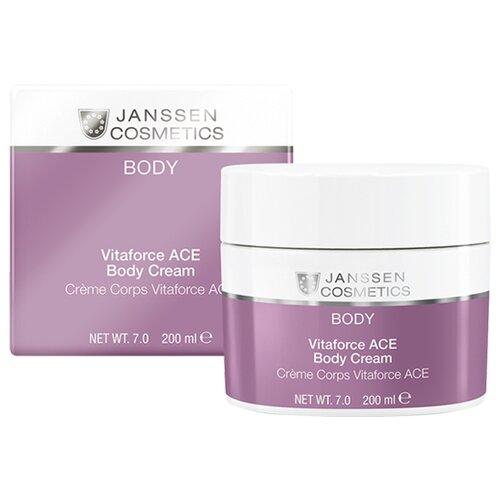 Крем для тела Janssen Cosmetics Vitaforce ACE насыщенный с витаминами A, C, E, банка, 200 мл