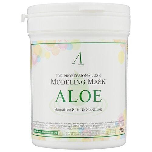Anskin Успокаивающая альгинатная маска для лица с экстрактом алоэ вера, 240 г, 700 мл альгинатная маска алоэ