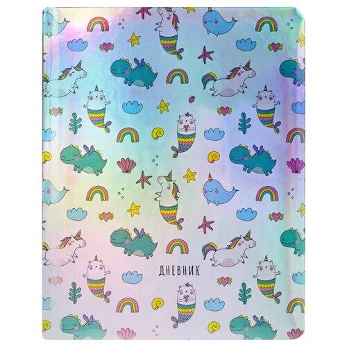 Greenwich Line Дневник школьный Magic unicorns перламутровый/зеленый/голубой magic inductive follow drawn line robot toy