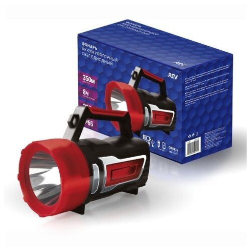 Фонарь светодиодный прожектор PowerMax Dynamo, COB 3Вт + CREE 10Вт + 12 SMD, аккум. 6000мАч, IP65, REV Ritter