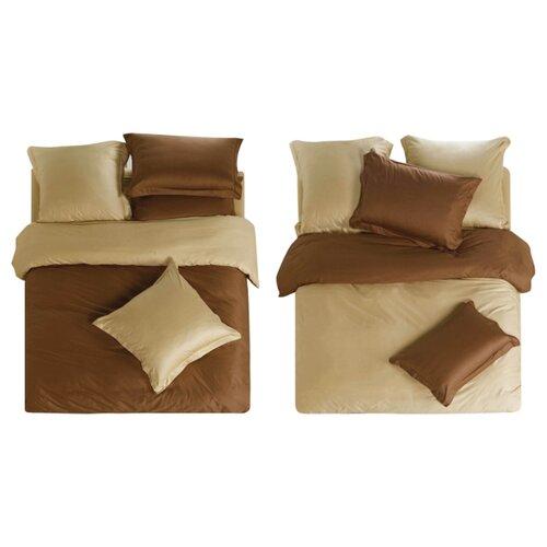 Постельное белье 2-спальное СайлиД L-5, сатин, 50 х 70 и 70 х 70 см коричневый / бежевый od l 70 1000mm 99 5