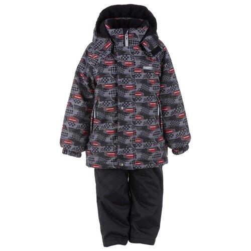 Купить Комплект с полукомбинезоном KERRY Ronit K20720 D 09890 размер 104, серый/розовый, Комплекты верхней одежды
