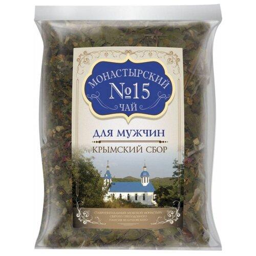 Фото - Чай травяной Крымский чай Монастырский № 15 Для мужчин, 100 г чай травяной aroma монастырский 100 г
