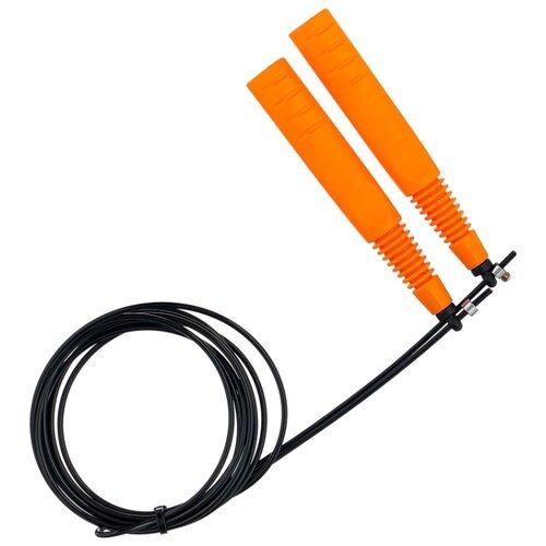 Скоростная скакалка Pro-Supra Crossfit 416 черный/оранжевый 290 см соковыжималка supra jes 1027 25 вт оранжевый