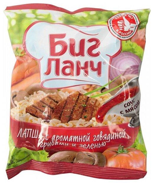 Биг Ланч Лапша с ароматной говядиной, грибами и зеленью 75 г