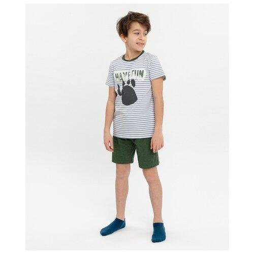 Купить Пижама Button Blue размер 152-158, хаки, Домашняя одежда