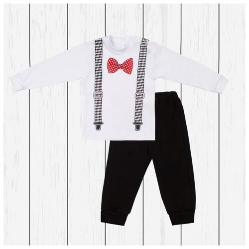 Купить Комплект одежды Утенок размер 92, белый/черный/красный, Комплекты