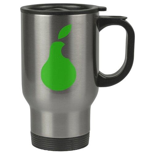 Автомобильная термокружка Зеленая груша надкусанная (почти apple)