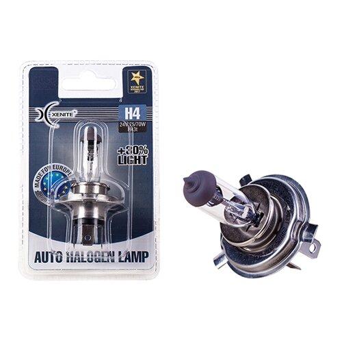 Лампа автомобильная галогенная Xenite 1007136 H4 P43t 24V 75/70W 1 шт. лампа skyway h4 24v75 70w w