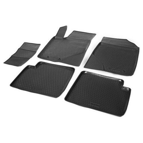 Комплект ковриков RIVAL 11901001 Geely Emgrand EC7 5 шт. черный