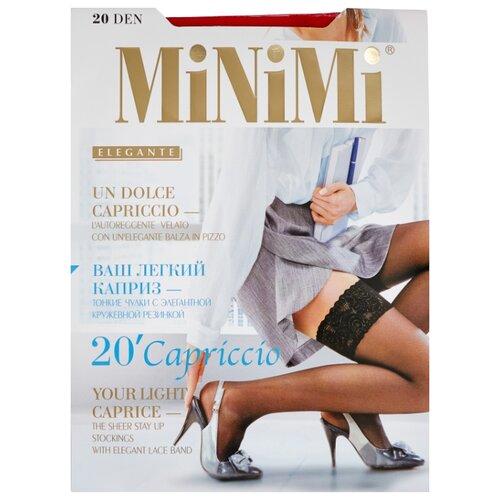 цена Чулки MiNiMi Capriccio 20 den, размер 2-S/M, rosso (розовый) онлайн в 2017 году