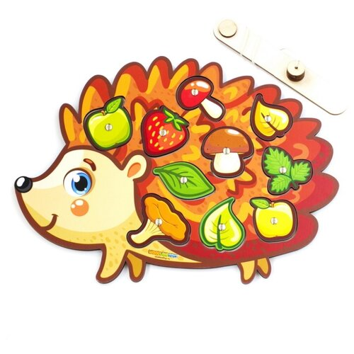 Купить Рыбалка Woodland Ежик 062202 бежевый/оранжевый/зеленый, Развитие мелкой моторики