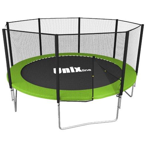 Каркасный батут Unix Line 12ft Simple (outside) 366х366х269 см зеленый
