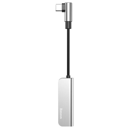 Купить Переходник Baseus Type-C - Type-C / jack 3.5 mm (L53) серебристый/черный