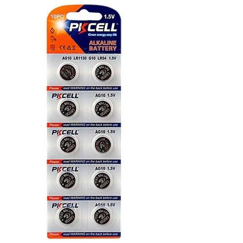 Батарейка PKCELL Super Akaline Button Cell AG10 10 шт блистер