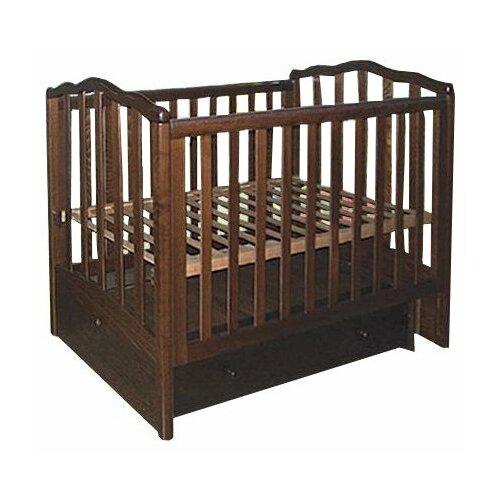 Купить Кроватка ЛЕЛЬ (Кубаньлесстрой) Жасмин АБ 19.3 (классическая), продольный маятник темный орех, Кроватки