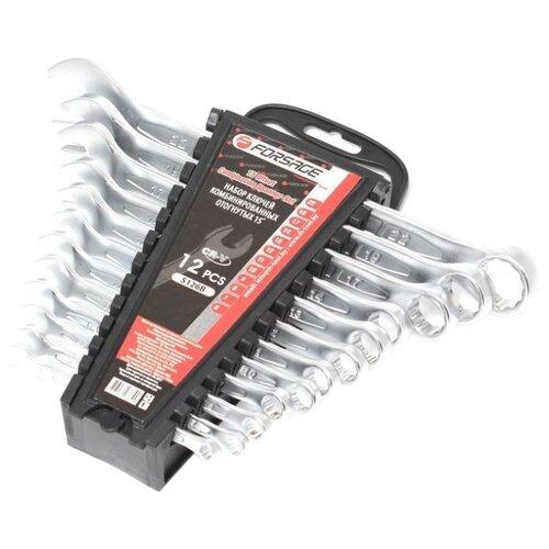 цена на Набор гаечных ключей Forsage (12 предм.) 5126B черный/серебристый